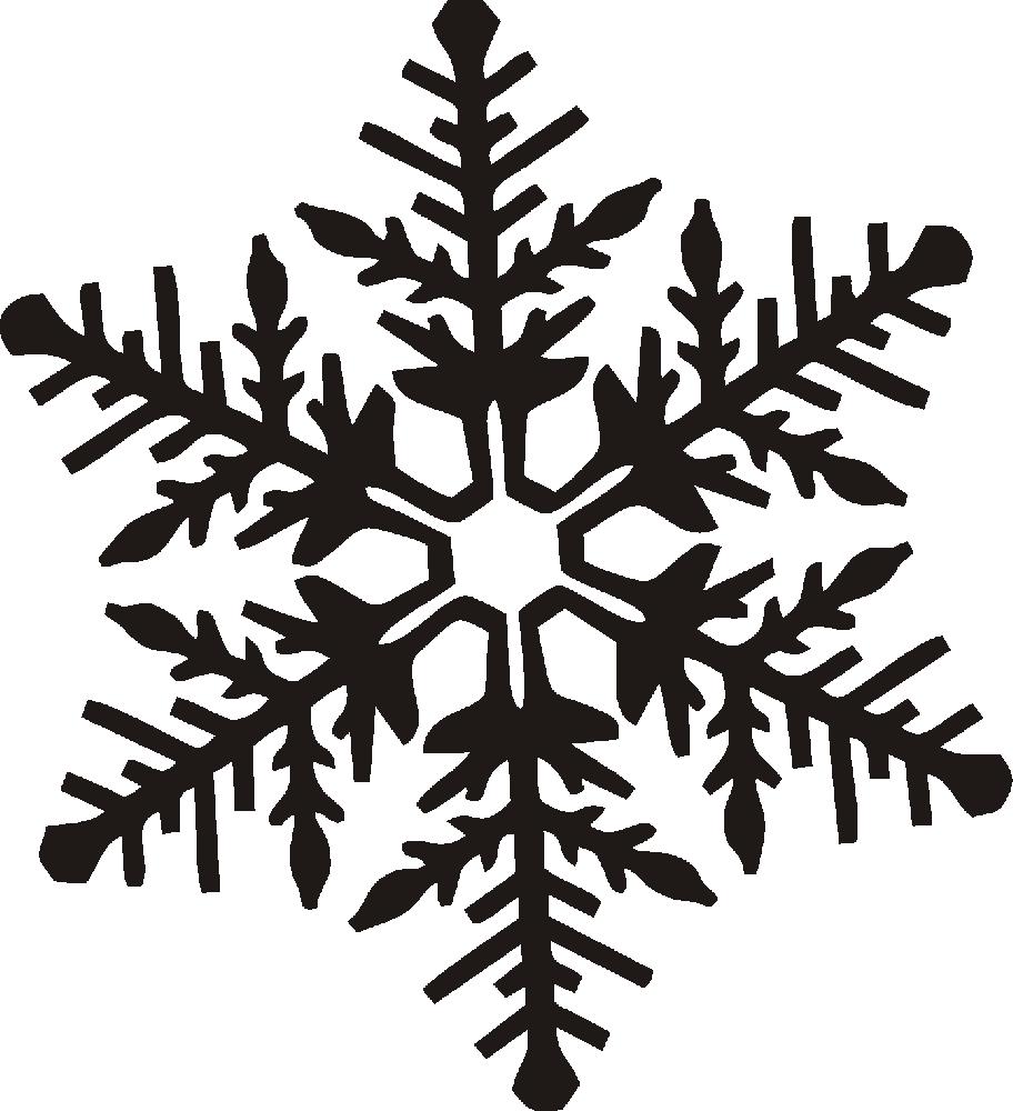 Силуэты снежинок картинки
